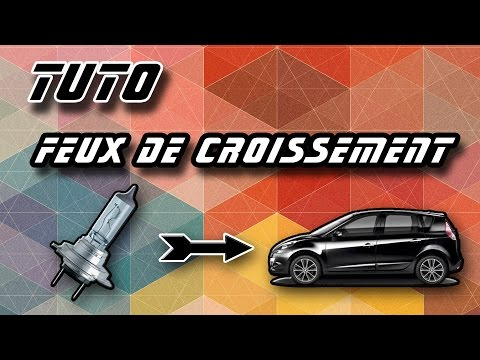 tuto changer l 39 ampoule d 39 un feux de croisement renault scenic 3 how to change dipped headlight. Black Bedroom Furniture Sets. Home Design Ideas