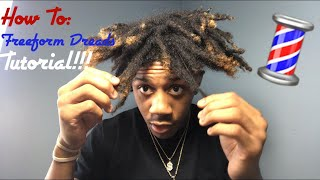 HOW TO: Curly Thot Boy Haircut/ Freeform Dread Tutorial!!