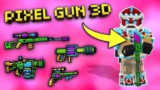 USING ALL ADAMANT WEAPONS!!   Pixel Gun 3D (Gameplay)