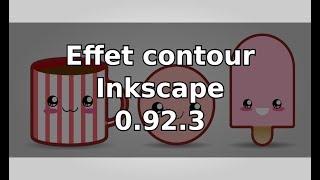 Tuto inkscape débutant : effet contour et petite nouveaute inkscape 0.92.3